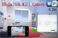 HD Wireless WiFi IP Switch Câmera escondida escondida, Switch DVR para iPhone IOS Android Smart Mobile phones PC Diretamente Video Monitoring Functions