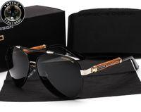 Wholesale Designing Brand Logo - P8562 Eyewear Design UV400 Pilot Yurt Sun Glasses Men Polarized Sunglasses Brand Logo Design Driving Glasses Goggles Oculos de sol