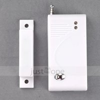 Wholesale 433 Mhz Sensors - New White 433 Mhz Contact Wireless Door Window Magnet Entry Detector Sensor