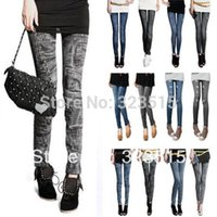 Wholesale FG1511 New Arrival New Fashion Denim Jeans women girl Sexy Leggings Jeggings Skinny Pants
