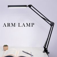 Wholesale Touch Led Eyes Protect - LED Desk Lamp Clip Office LED Desk Lamp Dimmable Flexible Table Lamp Reading LED Light 3-Level Brightness&Color Eye-protect