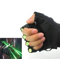 luz de baile láser verde al por mayor-Chiristmas laser gloves RGB 532nm Verde Laser Gloves LED palm light Etapa de baile Show Light MY4KEYPZVV o DJ Club / Party / Bars