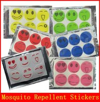 Wholesale Smiley Face Mosquito - 1200pcs Nature Anti Mosquito Repellent Insect Repellent Bug Patches Smiley Smile Face Patches Baby Adult Mosquito Repellent Stickers