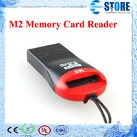 lector usb m2 al por mayor-Lector de tarjetas USB TF USB 2.0 Micro SD T-Flash TF M2 Lector de tarjetas de memoria Adaptador de alta velocidad para 4 gb 8 gb 16 gb 32 gb