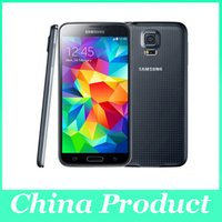 Wholesale cellphone super camera online - Original Unlocked quot Samsung Galaxy S5 ponsel i9600 Super AMOLED mah Quad Core GB rom Front camera Android refurbished
