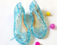 zapatos de la princesa azul de los niños al por mayor-Zapatos de las muchachas 2015 zapatos zapatos planos de la muchacha azul niños zapatos de los niños Sandalias de los niños de la princesa de alta calidad 30-35