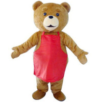 Wholesale Teddy Bear Adult Mascot Outfit - 2016 Teddy TED Bear Adult Size Cartoon Mascot Costume Fancy Dress Outfit