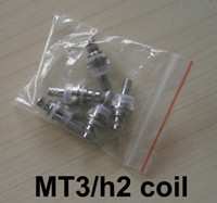 Wholesale Detachable Coil Core - MT3 H2 Replaceable Atomizer Coil 1.8 2.4 2.8 Ohm For MT3 H2 Cartomizer Clearomizer Replacement Detachable Core Head