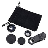 Wholesale Iphone 3in1 Kit - Wholesale-3in1 Fish Eye Lens + Wide Angle + Micro lens Phone Camera Lens Kit for iPhone 5s 4S 4 i9300 N