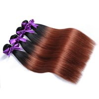 Brazilian Straight Ombre Hair Bundles 1B 33 cabelo humano Weave Two Tone Dark Brown Ombre Hair Extensão 3 ou 4 Bundles