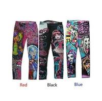 Wholesale Girls Blue Underwear - 1pcs Free Ship 6-16T Brand Kids Girls Pants, Monster High Leggings.Gilrs Lovery Underwear Girls leggings,kids Pant TopQuality