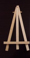 Wholesale Wholesale Wooden Easels - Wholesale-8cm x 15cm Hot 10pcs lot Small wooden crafts easel easel stand bracket 312586-H