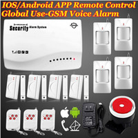 Wholesale Secure Gsm Alarm - Smart IOS Android APP Controlled 900 1800MHz Wireless GSM Secure home Voice alarm system Built-in speaker F intercom Security