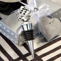 Wholesale Crystal Dice Wholesale - Great las-vegas themed wedding crystal dice bottle stopper favors+very good for wedding favors gift decoration DT12