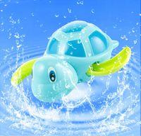 ванна с черепахой оптовых-Новорожденные дети плавают черепахи заводят цепь маленькое животное Детские Детские игрушки для ванной классические игрушки плавательный бассейн играть игрушки для купания