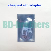 Wholesale S Micro Sim - Cheapest 3 in 1 Nano Sim Card Adapter, Nano to micro + Micro to normal Adaptor for iPhone 4 5 6 S Plus (1500pcs) 500sets lot