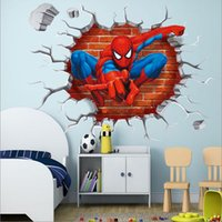 2017 3d Spiderman wall stickers per bambini camere decalcomanie home decor personalizzati Kids Nursery Wall sticker decorazione per Boy room