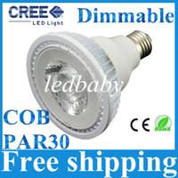ingrosso luci spot luminose-Super luminoso 1600 Lumens PAR30 Led Lampadine 15W E27 E26 Dimmable Led Spot Lights Best For Store Illuminazione AC 110-240V