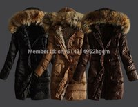 Wholesale Ladies Cashmere Long Coat Sale - New Arrival Hot Sale Ladies Down Jacket Fur Collar Winter Jacket Coat Khaki Black Brown Fashion Warm Women's Down Coat Parkas
