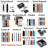 Wholesale wholesale dry herbs - Yocan Evolve Plus Wax Dry Herb Vaporizer Ishred Torch Magneto Evolve Plus XL Pandon Evolve Evolve-C Evolve-D Hive 2.0 Cerum NYX Tanks