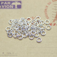 Wholesale Diy Slide Charms Sports - Strong DIY jewelry finding Components Open Jump Rings metal material thick silver brass material 5 6mm ring split ring jump ring 500pcs lot