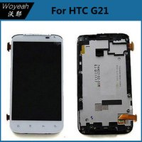 Wholesale Display Screen G21 - Original For HTC G21 LCD Display Screen With Touch Screen Digitizer With Frame Assembly Full Set