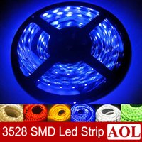 Wholesale Led Light Rolls For Cars - SMD 3528 LED Strip Light 5m 300LEDs roll Waterproof IP65 & Non-Waterproof Warm white White Blue Yellow Red Green LED lighting for car bar