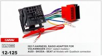 Wholesale Quadlock Adapter - CARAV 12-125 ISO F-HARNESS.RADIO ADAPTER FOR VOLKSWAGEN AUDI SKODA SEAT All with Quadlock Wiring Harness Connector Lead Loom Cable Plug