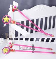 Wholesale Anime Wand - Wholesale-Anime Cardcaptor Sakura KINOMOTO SAKURA 80cm Bird Star Shape Magic Wand Stick High Quality Cosplay Props Weapon Free Shipping