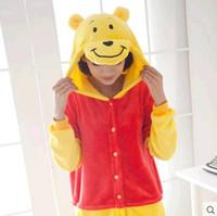 Wholesale Teddy Bear Winter - Costume Winter Autumn Cheshire teddy bear Kigurumi Pajamas Animal Suits Cosplay Outfit Adult Garment Cartoon Jumpsuits Unisex Animal