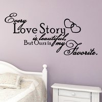 Chaque Love Story Is Beautiful Quote Vinyl Wall Art Sticker Bedroom Decor