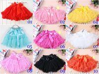 Wholesale Girl Tutu Pettiskirt Petti Skirts - Christmas Girls Tutu Skirt Girls Pettiskirt Children Pleated Ruffle skirts Kids Petti Skirt Child Mini Skirt 10 Colors
