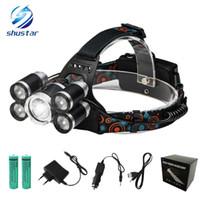 ingrosso luci di caccia automobilistiche-LED faro 15000Lm T6 5 LED faro luce 4 modalità caricabatteria da auto di potenza duratura super luminoso campeggio esterna di caccia