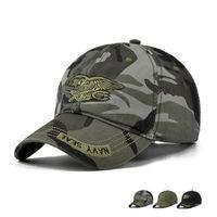 armee-tarnung baseball-hut großhandel-Hohe Qualität Camo Baseball Cap Männer Camouflage Navy Seal Tactical Cap Herren Hüte und Caps Bone Army Snapback für Erwachsene