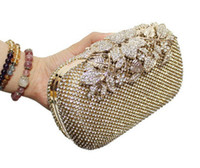 Wholesale Peacock Diamond Ring - Wholesale-2015 New diamond evening bags peacock clutches high grade beaded crystal clutch rings wedding party purse Free Shipping w326