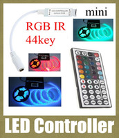 Wholesale Led Dimmer Controller 5v - led light controller dimmer wireless rgb led controller 5v-24v 44key mini rgb control box for ir remote control led string lights DT004