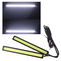 Wholesale Daytime Car 4w - 2*14cm 4W COB DRL Car LED Light Daytime Running Fog Lamp Light Bar White 12V
