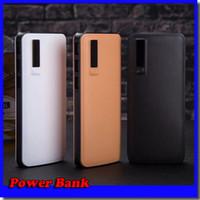 banco de energía portátil ligero al por mayor-Nuevo estilo 20000mAh Power Bank 3USB External Battery Cargador de banco portátil con luz LED para iPhone 8 X Samsung s8 universal