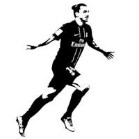 etiqueta de la pared nombre de la etiqueta al por mayor-Filigrana de fútbol Pegatinas de pared Arte de la pared Pegatinas Nombre personalizado Puede personalizar su propio nombre Decoración para el hogar Zlatan Ibrahimovic