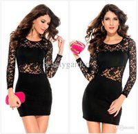 Wholesale Long Dance Skirts - Fashion Ladies Dance Party Backless hollowed Lace Short Skirt Sexy Night Club Costume Anniversary Dress PL2738