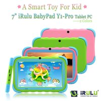 "Wholesale Irulu Kids Game Tablet - IRULU Brand BABYPAD 7"" Tablet PC for kids Dual Core Dual Camera A7 Android 4.2 8GB Free Game Learn Grow Play Kids Education TOY"