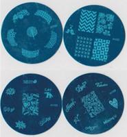 nagel stempel m großhandel-10000 Stücke Bule m Serie Bild Platte Mix Design 5,6 cm Stamping Nail art Platte 100 Designs Vorlage