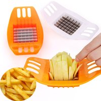 Wholesale Potato Chips Slicer - Hot sale Stainless Steel Cutter Potato Chip Vegetable Slicer Tools Orange 95398