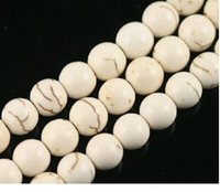 Wholesale Turquoise Beads Howlite 6mm - OMH wholesale jewelry Stone white Howlite turquoise spacer rotund bead 4mm 6mm 8mm 10mm 12mm 14mm ZL04
