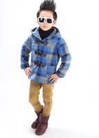 Wholesale Cute Girl 15 Age - Autumn Winter Boy Fleece Jacket Girls Coat Outwear Thick Plaid Windbreaker Age Size 4 5 6 7 8 9 10 11 12 13 14 15 16 Yeas Old
