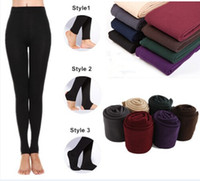 Wholesale Thick Cotton Leggings Winter - 2014 New Leggings For Women Arrival Casual Warm Winter Faux Velvet Legging Knitted Thick Slim Leggings Super Elastic free shipping