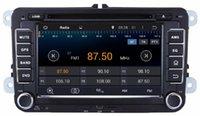 "Wholesale Skoda Din Android - 1024*600 Android 4.4 HD 2 din 7"" Car DVD Player GPS for VW Volkswagen Passat Tiguan Touran Caddy Skoda Seat CC POLO Jetta Golf 5 Golf 6"