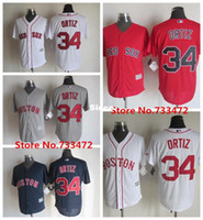 Wholesale Best David - 30 Teams-Factory Outlet Mens Womens Kids Boston Red Sox 34 David Ortiz White Grey Red Blue Best Quality Flex Base Cool Base Baseball Jerseys