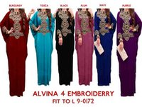 Wholesale Dress Oem - OEM muslim dress abaya Slim Fit batwing sleeve flowers Embroidery Muslim Clothing Wholesale kaftans for Woman Abaya Jersey M-1515