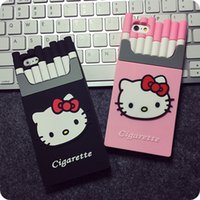 Wholesale Cellphone Sleeves - New Cigarette Silicone Cellphone Case Cartoon Cat Mobile Phone Protective Sleeve Fashion Smartphone Shell 5 colors Free Shipping
